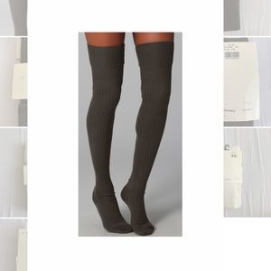 Falke - olive green  Over the Knee Socks
